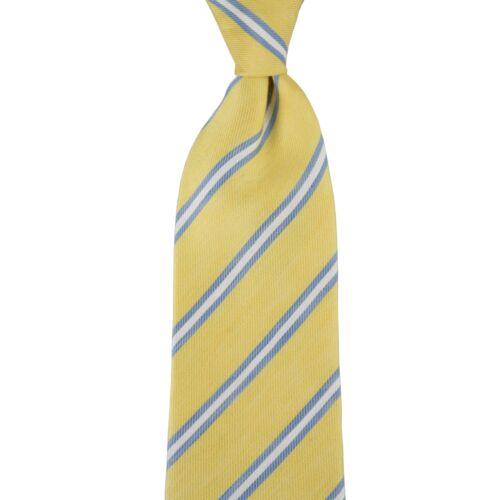 Handmade in Italy $155 New ROBERT JENSEN Yellow Blue Neck Tie