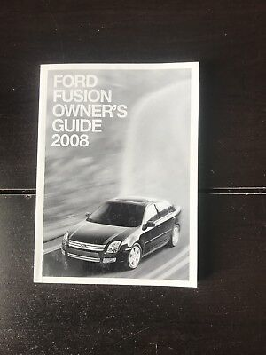 ford fusion owners manual oem  shipping ebay