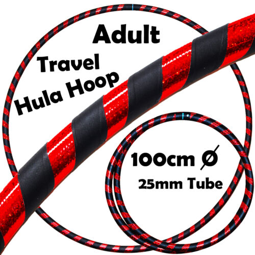 Ultra-Grip//Glitter Deco PRO Hula Hoops Weighted TRAVEL Hoola Hoop 100cm//39/'