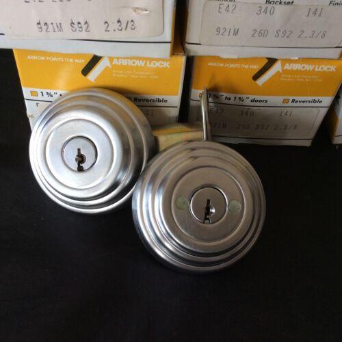 """Arrow Double Cylinder Deadbolt 26D 921 E Series Grade 2  2 3//4/"""" backset"""