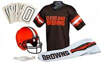 Cleveland Browns Youth Uniform Set Kid Medium Nfl Jersey Football Helmet Costume on Sale