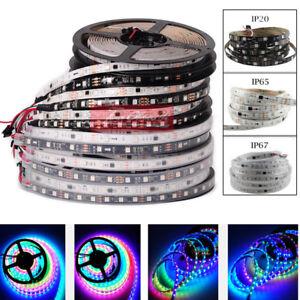 WS2811-5050-RGB-Full-color-LED-strip-1m-5m-150-300leds-5M-Addressable-DC12V-1-5M