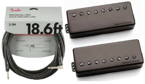 FENDER 18 Seymour Duncan Nazgul /& Sentient 8 String Humbucker Black Cover Set