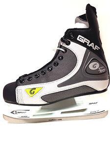 GRAF-1001-101-Eishockey-Schlittschuhe-Gr-47-schwarz