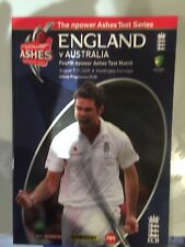 ENGLAND v AUSTRALIA 4th test  7-11 Aug 2009 CRICKET PROGRAMME at Headingley