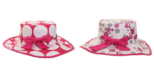 2 colours and 2 sizes Fast Post Girls/' Wide Brim Cotton Sun Hat