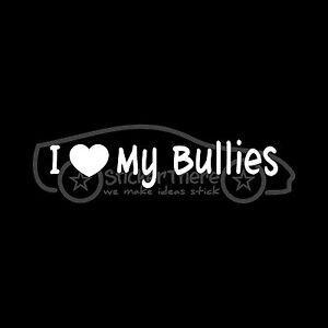 I-LOVE-MY-BULLIES-Sticker-Vinyl-Decal-window-cute-bulldog-pitbull-pet-dog-Bully