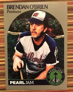 Details About Pearl Jam Brendan Obrien Baseball Trading Card Seattle 2018 Home Shows