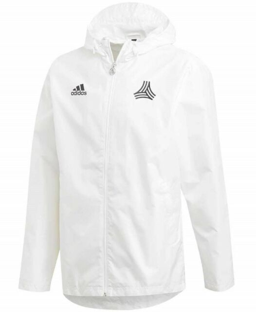 40ed3bad9 adidas Men's Tango Windbreaker Hooded Soccer Jacket Size XS #dt9851 White