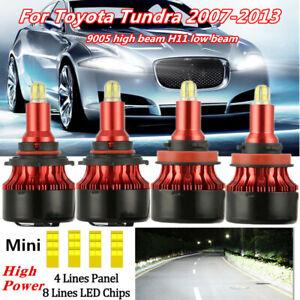 Mini 3D 8-Sides 9006 HB4 LED Headlight Kit Low Beam Fog Light Bulbs 200W 30000LM