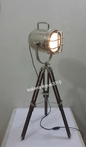 Nautical mini spot search light  chrome finish table lamp tripod table lamp home