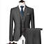 miniature 17 - Mens Suits Sets 3 Pcs Slim Fit Coats Tuxedos Groom Groomsman Formal Work Casual