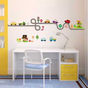 car bus highway track wall stickers for children s room decor wall
