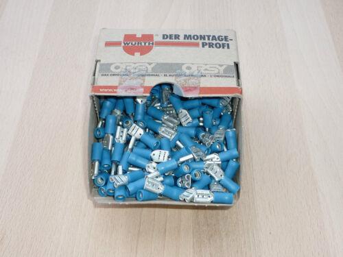 100 St Kabelstecker 1,5-2,5mm² Kabelverbinder Kabelschuhe blau 6,3mm isoliert