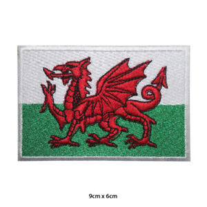Wales-National-Flag-Embroidered-Patch-Iron-on-Sew-On-Badge-For-Clothes-Bags-etc