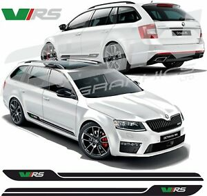 Skoda-Octavia-VRS-side-stripes-decals-stickers-graphic-any-colours-HEXIS-Quality
