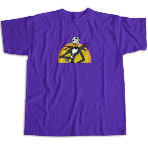 Jack Skellington Nightmare Before Christmas Halloween Disney Unisex Tee T-Shirt