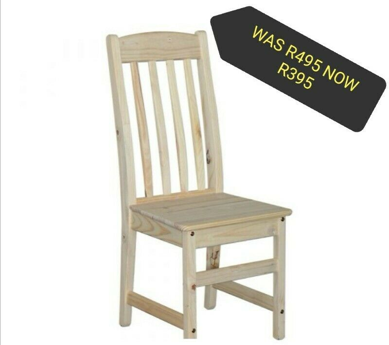 RAW High Back Dining Room Chairs (Height to seat 45 cm, total height of chair 103 cm) R395 each…….