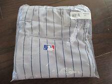 Majestic Team MLB Men's Baseball Pant Pants - Gray Blue Pinstripe - XL