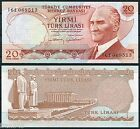 TURQUIA TURKEY 20 Liras turcas lira 1970 1974 Pick 187 b SC / UNC