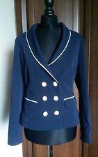 Collectif Bernadette Sailor Blazer jacket Navy size 10 (S) nautical Vintage BNWT
