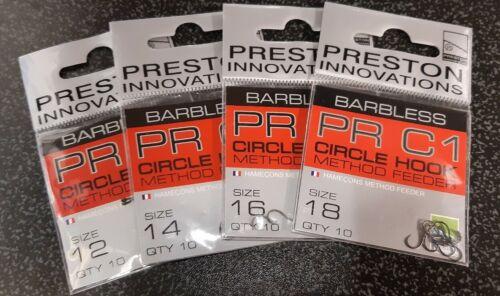 Preston PR C1 Circle Hooks Barbless Selection