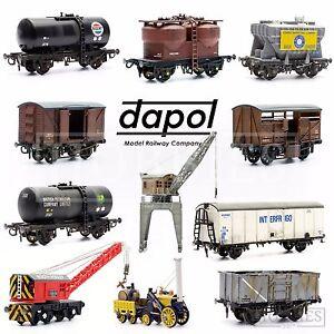 Dapol-Plastic-Model-Kits-Tanker-Wagon-Van-Crane-OO-HO-Gauge-Scale-Railway-Track