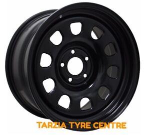 """Dynamic 15x7"""" D Shape Hole Drift Steel Wheel 5x100 +0 Black"""