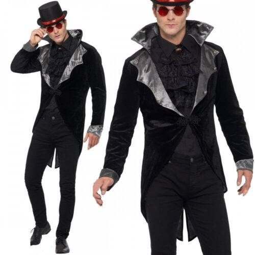 Homme Gothique Vampire Veste Costume Halloween Comte Dracula adulte robe fantaisie