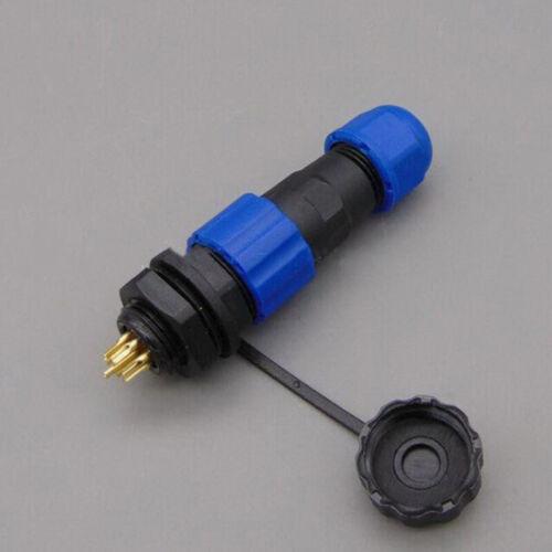 SP13 Imperméable IP68 Châssis Panneau Support Circulaire Aviation Plug Câble connectort