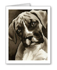 Boxer Puppy note cards by watercolor artist Dj Rogers