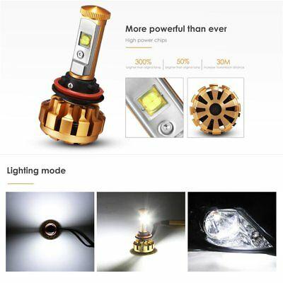 Auxbeam H11 LED Headlight Bulbs F-16 Plus Series LED Headlights with 2 Pcs of H11 Led Headlight Conversion Kits 70W 7000lm High Brightness SMD LED Chips Driving Light Pack of 2