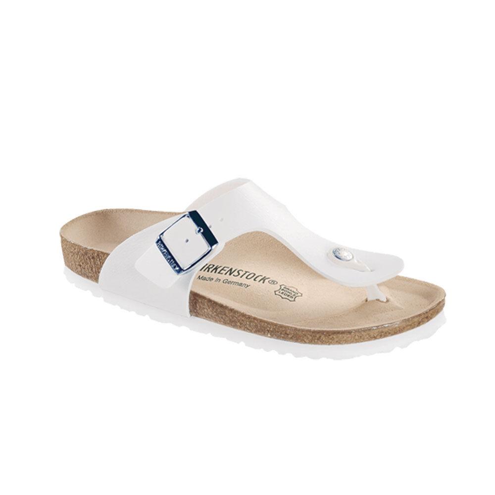 Birkenstock Ramses Damen Zehentrenner Flip Sandalee Pantolette Zehensteg Weiß