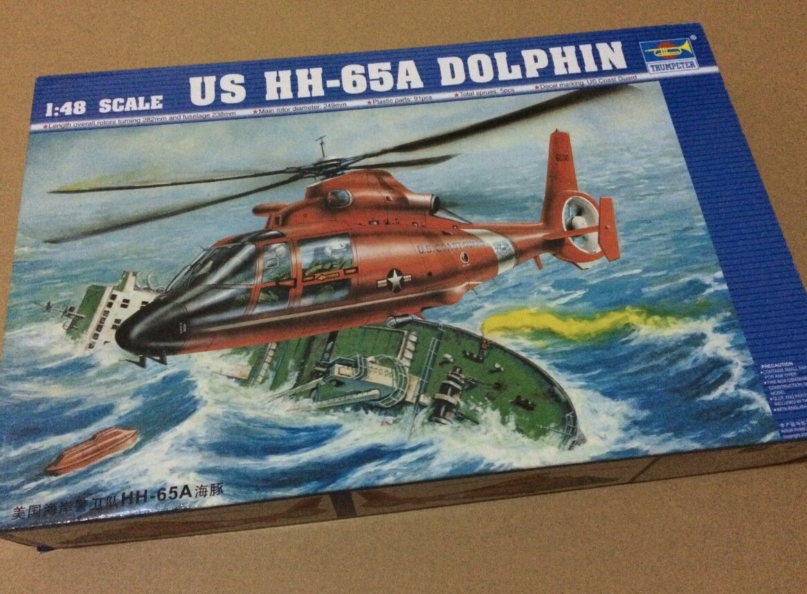 02801 Trumpeter 1 48 Plane HH-65A Dolphin Rescue Helicopter Model Aircraft Kit