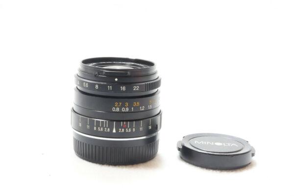 Capable Minolta 24mm F2.8 M-rokkor Leica Support Lentille Pour Cl Ou Cle -bb 232 Pour ExpéDition Rapide