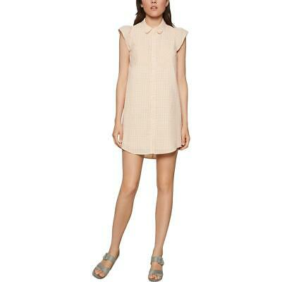 Aqua Womens Linen Tie-Front Mini Casual Dress BHFO 9009