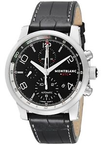 fbaffeef5 MONTBLANC TIME WALKER UTC Automatic Black Dial Men's Watch Leather ...