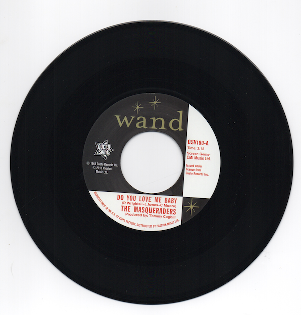 """THE MASQUERADERS Do You Love Me Baby NORTHERN SOUL 45 (OUTTA SIGHT) 60s 7"""" Vinyl"""