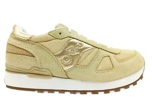 Chaussures Femme Saucony Shadow SK164820 Or Baskets Casual Confortable Lire