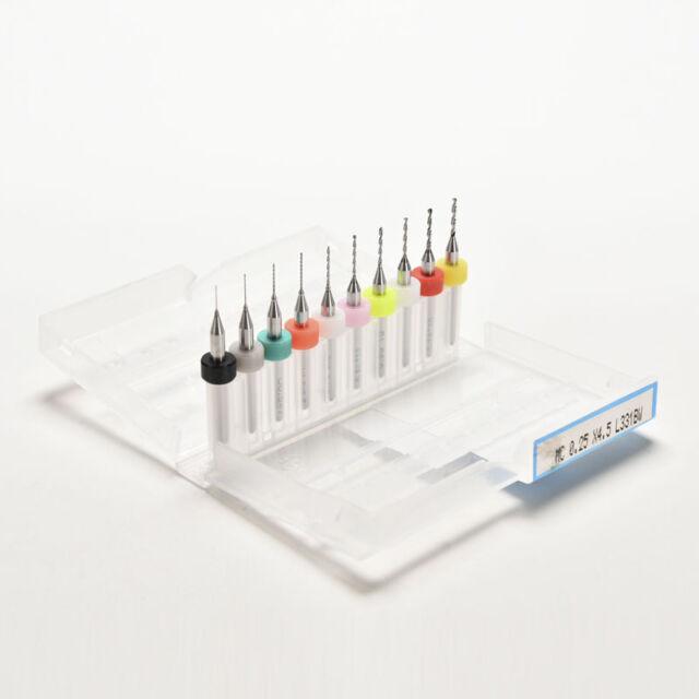 10 Pcs 0.3mm-1.2 mm PCB Print Circuit Board Carbide Micro Drill Bits DIYTools PT