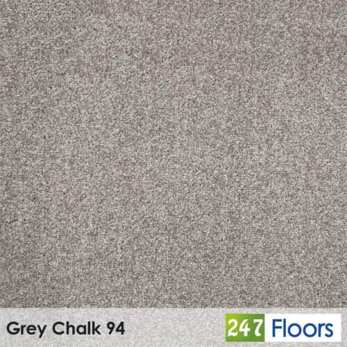 Grey Chalk 94 Tuftex Twist Actionback Carpet by Associated Weavers 4m Wide