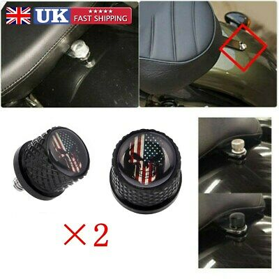 Automotive Seat Bolt Screw Mount Tab Cover for Harley Dyna Street Glide Fatboy 96-15 1//4-20
