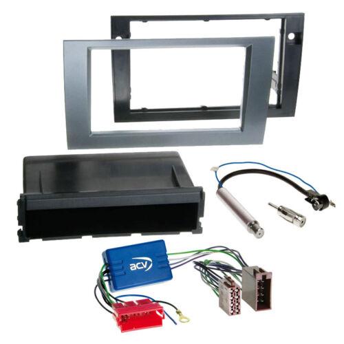 1-din autoradio-installation-set panneau adaptateur pour AUDI a4 b6+b7 sans Bose Anthracite