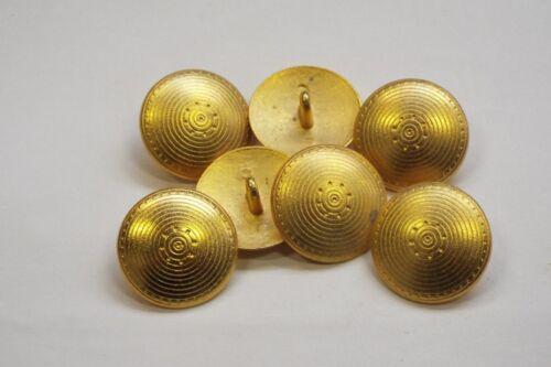 8pc 20mm Matt Gold Incan Sun Inspired Metal Coat Cardigan Knitwear Button 3322