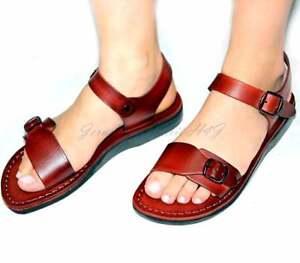 386cd2eb54e7af Image is loading Jerusalem-Biblical-Jesus-Sandals-Thongs-Flip-flops-Brown-