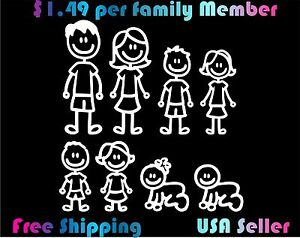 Family-Stick-Figure-Decal-Car-Window-Sticker-1-49-per-Figure-custom
