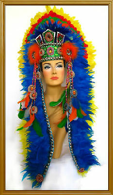 Feather Headdress Spirit Chief Indian Native Navajo Tribal Custom Charm Rings