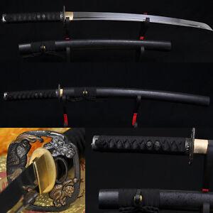 31-034-HANDMADE-Japanese-Samurai-Sword-WAKIZASHI-Folded-Steel-BLADE-VERY-SHARP