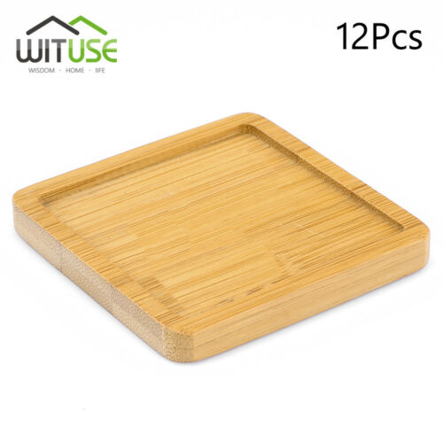 Simple Chinese Style Bamboo Tray Ceramic Flower Pot Glazed Planters Stander 80E