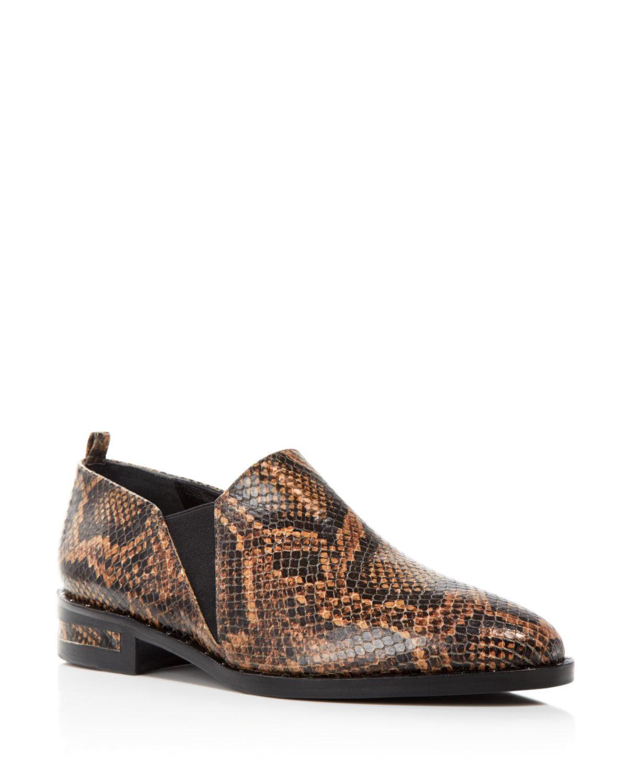 Zapatos Zapatos Zapatos de cuero Frojoa salvador para mujeres de serpiente giran en relieve plano Botines Cacao 8M  Con 100% de calidad y servicio de% 100.